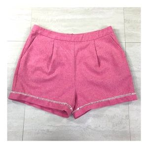 Love Riche Red Pleated Shorts Size Large